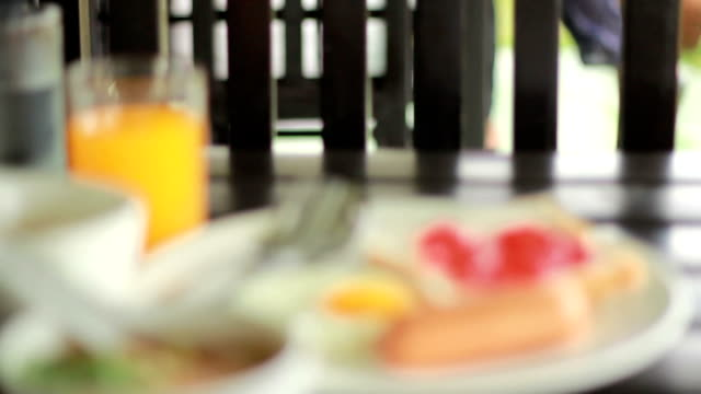 breakfast foods, dolly movement - syrup stock videos & royalty-free footage