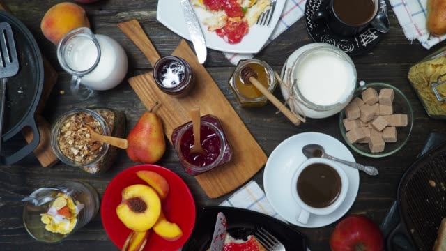 breakfast for two - jam stock videos & royalty-free footage