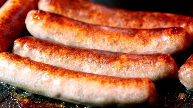 breakfast sausage - sausage stock videos and b-roll footage