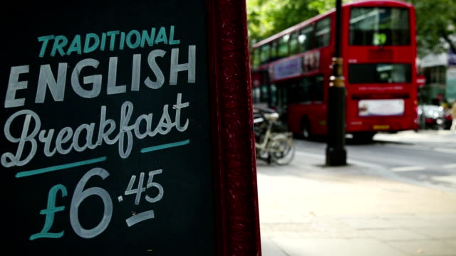 Breakfast sign in London