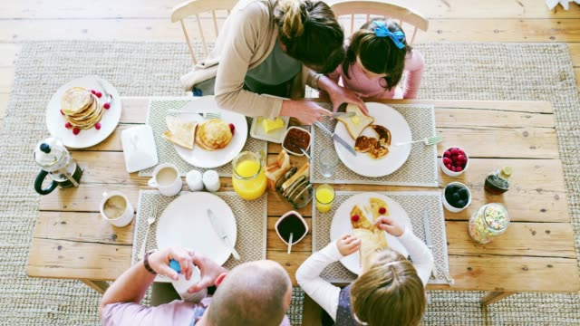 breakfast time is family time - breakfast stock videos & royalty-free footage