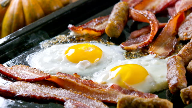 breakfast - bacon stock videos & royalty-free footage