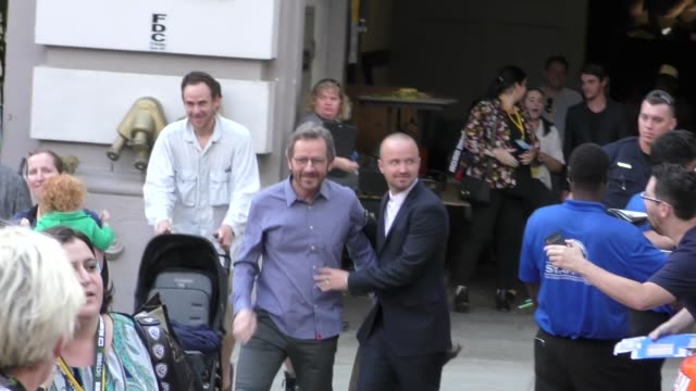 breaking bad cast greets fans on day 1 of 2018 comiccon in san diego in celebrity sightings at comiccon san diego - san diego comic con stock videos and b-roll footage