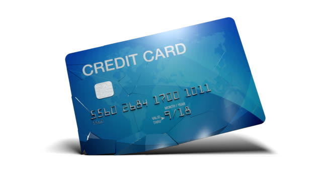 breaking credit card in slow motion - fragility stock videos & royalty-free footage