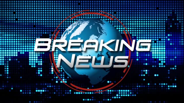 """breaking news"" 3d graphic animation - english language stock videos and b-roll footage"