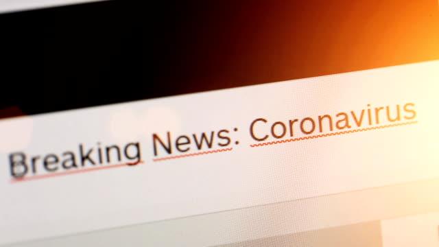 breaking news: coronavirus - search box stock videos & royalty-free footage