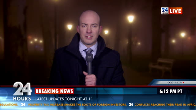 HD: Breaking News From Outdoor Location