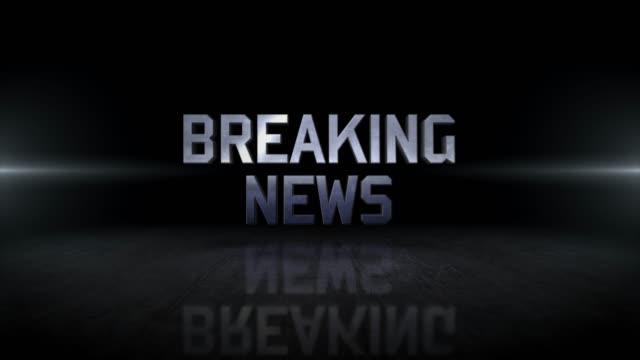 breaking news word 4k business digital technology concept stock video - breaking news stock videos & royalty-free footage