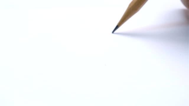 breaking pencil - broken pencil stock videos & royalty-free footage