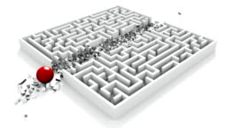 Breaking through the maze