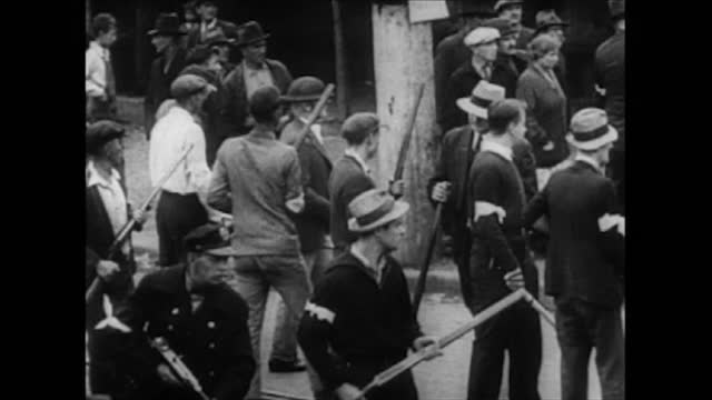 breaking up workers' rallies in pennsylvania, new york, and chicago - labor union stock videos & royalty-free footage