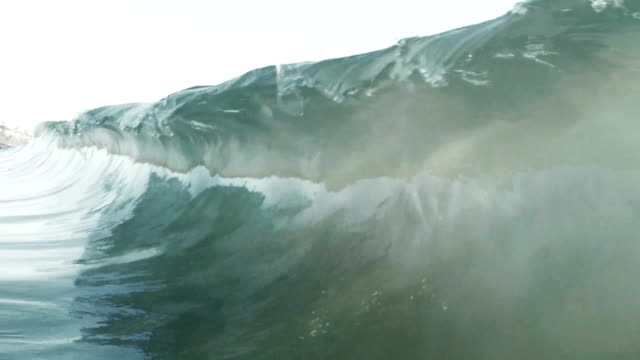 breaking wave - curled up stock videos and b-roll footage
