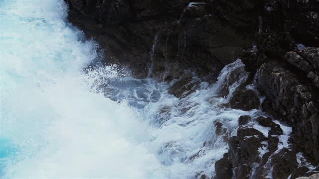 breaking waves, adriatic sea, croatia - adriatic sea stock videos & royalty-free footage