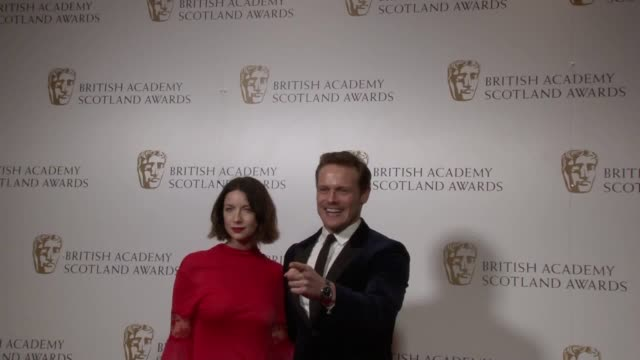 stockvideo's en b-roll-footage met break-out star of gruelling tv drama chernobyl has dedicated his best television actor award at the scottish baftas to the victims of the nuclear... - television game show