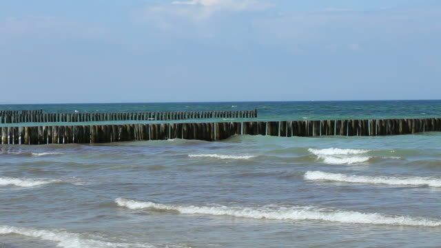 breakwater at sea - north sea stock videos & royalty-free footage