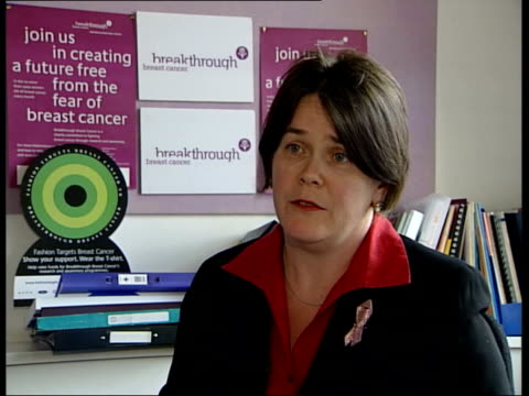 gps identification fears; delyth morgan interviewed sot - breast cancer is a womans single biggest health concern nicola roche looking at mammograms... - scientific imaging technique stock videos & royalty-free footage