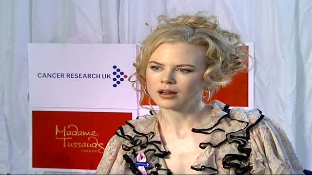 nicole kidman launches campaign madame tussauds int nicole kidman interview sot i've got number of girlfriends at moment who are battling it / they... - madame tussauds stock videos & royalty-free footage