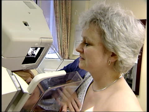 London Bernadette Fitzpatrick undergoing mammogram breast screening Bernadette Fitzpatrick interviewed SOT Picked up on cancer able to deal with it...