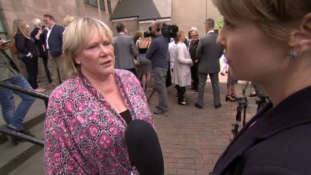 breast cancer surgeon jailed for carrying out unnecessary operations frances perks outside court chatting with others frances perks interview sot... - psychopathy stock videos and b-roll footage
