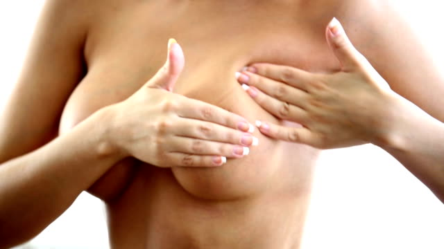 breast examination. - naked stock videos and b-roll footage