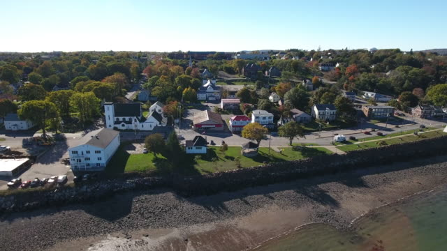 a breathtaking aerial view of digby, nova scotia, canada. - atlantic ocean stock videos & royalty-free footage