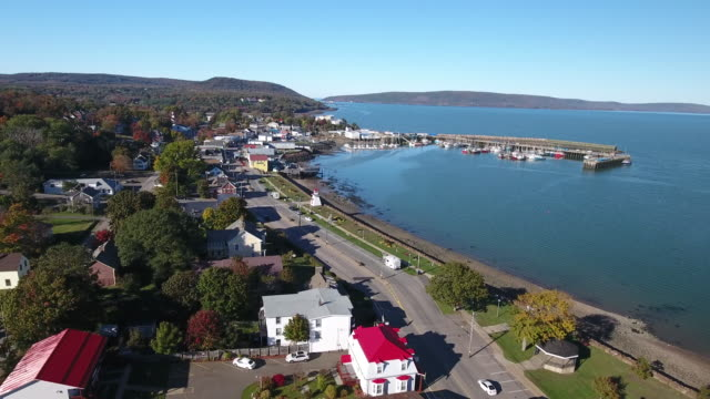 A breathtaking aerial view of Digby, Nova Scotia, Canada.