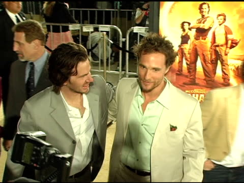 Breck Eisner Matthew McConaughey and Steve Zahn at the 'Sahara' Los Angeles Premiere at Grauman's Chinese Theatre in Hollywood California on April 4...