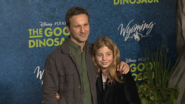 breckin meyer at the good dinosaur world premiere at the el capitan theatre on november 17 2015 in hollywood california - el capitan theatre stock videos and b-roll footage