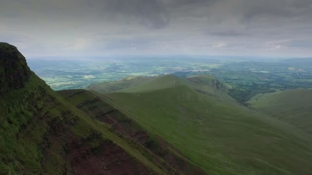Inquest ruling blames army WALES Brecon Beacons EXT View of Brecon Beacons from above PULL OUT
