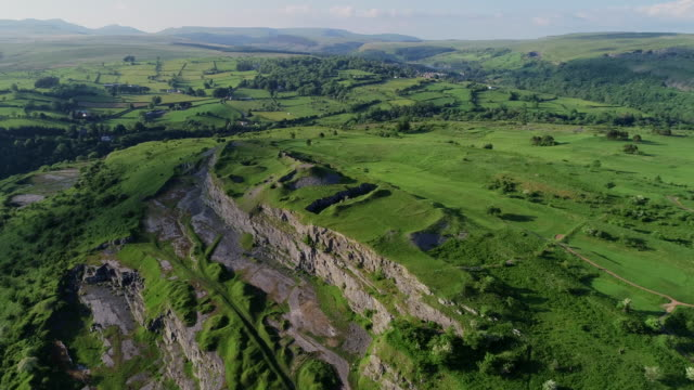 brecon beacons national park, wales - drone point of view stock videos & royalty-free footage