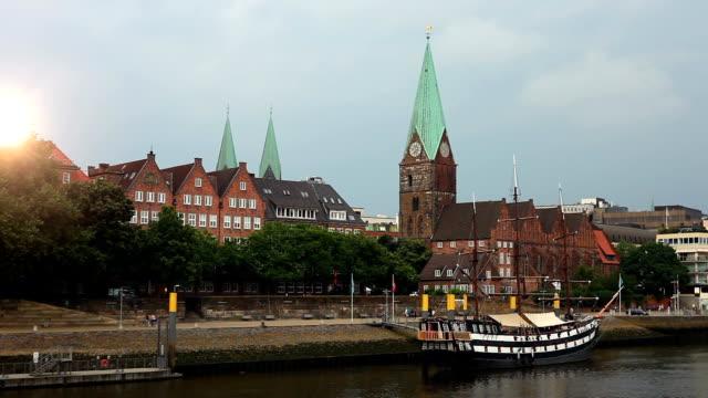 Bremen Skyline with sun