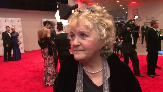brenda fricker on being at iftas, on not being enough roles for women, and networking at the iftas at convention centre dublin, ireland on february... - irish film and television awards stock videos & royalty-free footage
