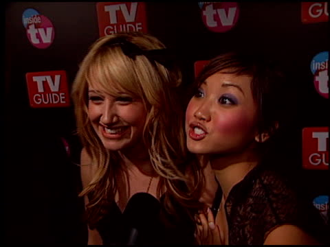 brenda song at the 2005 tv guide emmy awards party at the hollywood roosevelt hotel in hollywood california on september 18 2005 - brenda song stock videos & royalty-free footage