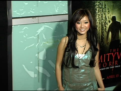 brenda song at the 'amityville horror' worldwide premiere at the cinerama dome at arclight cinemas in hollywood california on april 7 2005 - brenda song stock videos & royalty-free footage