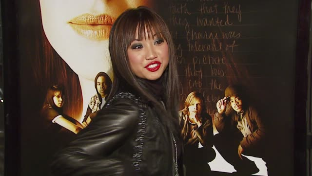 brenda song at the 'freedom writers' los angeles premiere at the mann village theatre in westwood california on january 4 2007 - brenda song stock videos & royalty-free footage