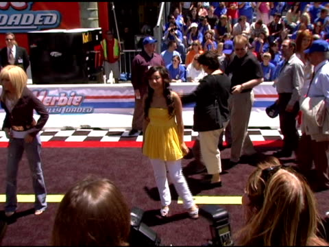 brenda song at the 'herbie fully loaded' los angeles premiere at the el capitan theatre in hollywood california on june 19 2005 - brenda song stock videos & royalty-free footage