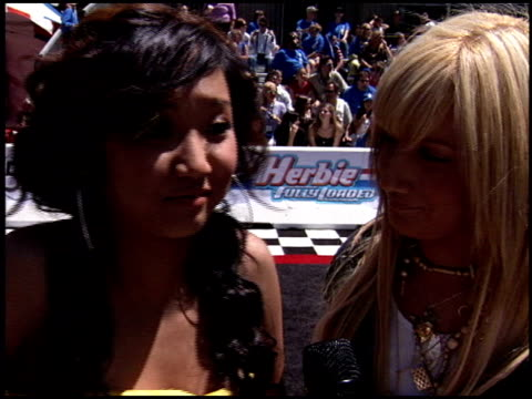 brenda song at the 'herbie fully loaded' premiere at the el capitan theatre in hollywood california on june 19 2005 - brenda song stock videos & royalty-free footage