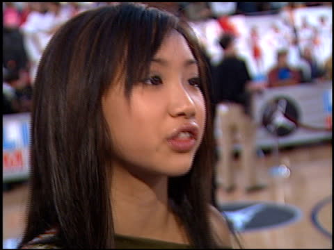 brenda song at the 'like mike' premiere at mann theatre in westwood california on june 27 2002 - brenda song stock videos & royalty-free footage