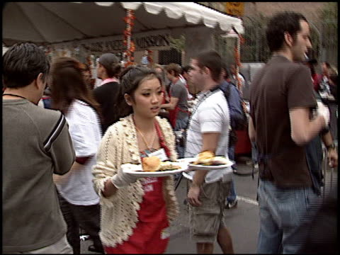 brenda song at the los angeles mission thanksgiving at downtown in los angeles california on november 23 2005 - brenda song stock videos & royalty-free footage