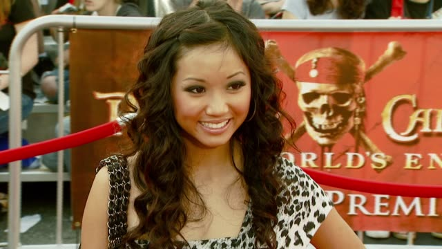 brenda song at the 'pirates of the caribbean at world's end' world premiere at disneyland in anaheim california on may 19 2007 - brenda song stock videos & royalty-free footage