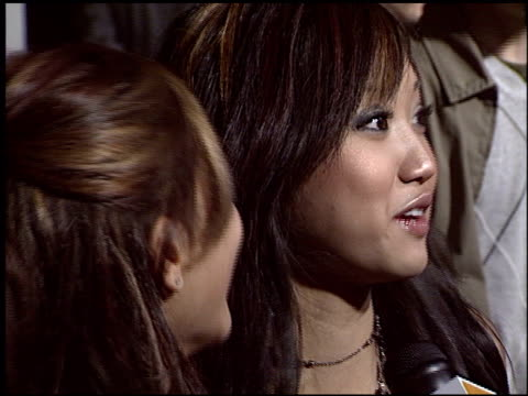 brenda song at the premiere of 'the amityville horror' at arclight cinemas in hollywood california on april 7 2005 - brenda song stock videos & royalty-free footage