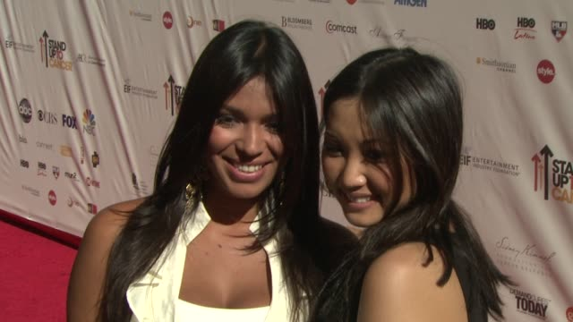 brenda song at the stand up to cancer at los angeles ca - brenda song stock videos & royalty-free footage