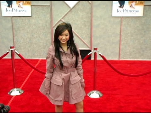 brenda song at the walt disney pictures' 'ice princess' premiere at the el capitan theatre in hollywood california on march 13 2005 - brenda song stock videos & royalty-free footage