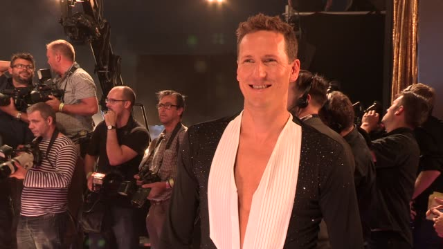 brendan cole at strictly come dancing at elstree studios on september 03 2013 in borehamwood england - ハートフォードシャー点の映像素材/bロール