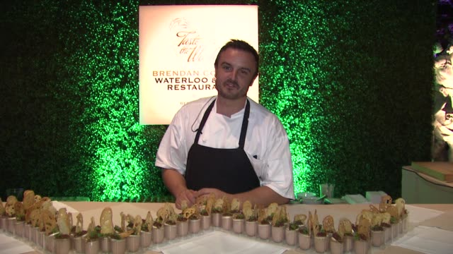 brendan collins on what he prepared for the evening at a taste of the world presented by breeders' cup grey goose vodka on 11/2/2012 in pasadena ca - grey goose vodka stock videos & royalty-free footage