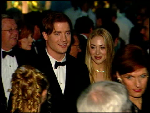 brendan fraser at the 1999 academy awards governor's ball at the shrine auditorium in los angeles california on march 21 1999 - 71st annual academy awards stock videos & royalty-free footage