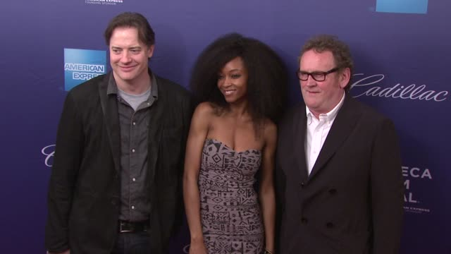 Brendan Fraser Yaya DaCosta and Colm Meaney at 2012 Tribeca Film Festival 'Whole Lotta Sole' at SVA Theater on April 21 2012 in New York New York