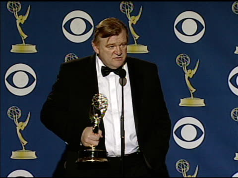 brendan gleeson at the 61st annual primetime emmy awards - press room at los angeles ca. - annual primetime emmy awards stock-videos und b-roll-filmmaterial