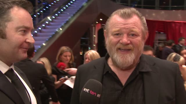 brendan gleeson at the iftas at convention centre dublin, ireland on february 11th 2012 - irish film and television awards stock videos & royalty-free footage