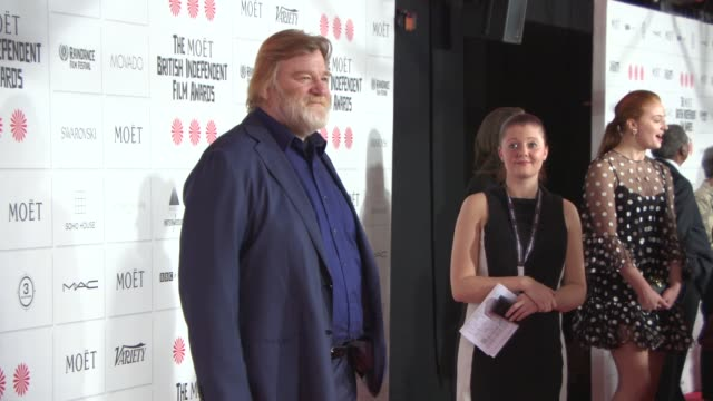 brendan gleeson at the moet british independent film awards 2014 at old billingsgate market on december 07 2014 in london england - audio electronics stock videos & royalty-free footage
